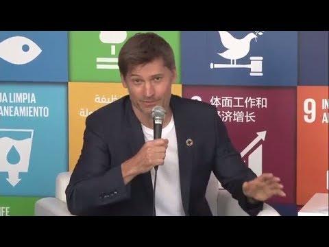 with Nikolaj CosterWaldau, SDG Media Zone 1822 September 2017