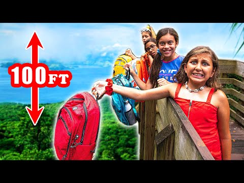 LAST to drop their BACKPACK wins $10,000 - Mimi Locks school supplies challenge