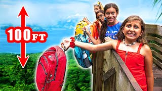 LAST to drop their BACKPACK wins $10,000 - Mimi Locks school supplies challenge