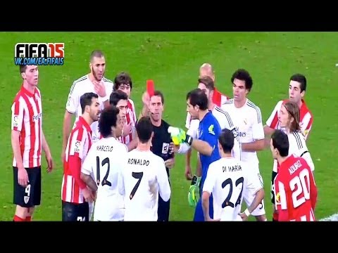 Cristiano Ronaldo - Red card Athletic Bilbao vs Real Madrid CF 02.02.2014 vk.com/ea.fifa15