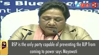 BSP is the only party capable of preventing the BJP from coming to power says Mayawati