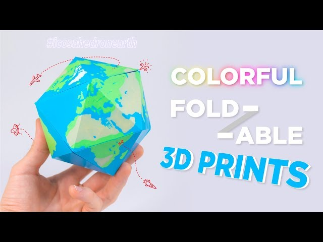 Colorful, Foldable 3D Printed Polyhedra!