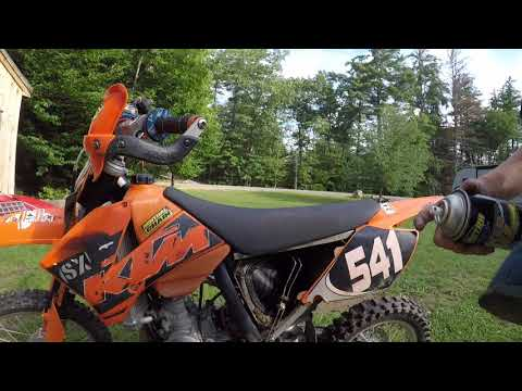 HOW TO CLEAN A DIRT BIKE AIR FILTER!!