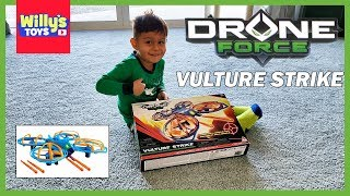 Drone Force Vulture Strike 4 Ch 2.4Ghz Indoor/Outdoor Drone Helicopter TOY REVIEW by WILLY