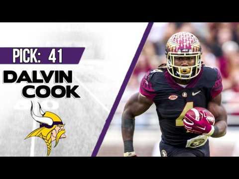 MINNESOTA VIKINGS SELECT DALVIN COOK 41ST OVERALL   2017 NFL DRAFT