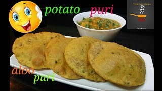 Potato Puri Recipe/Masala Aloo Puri/How To Make Potato/Aloo Puri With Tips
