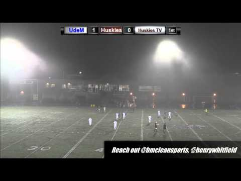 AUS Mens Soccer: Aigles Bleus vs Huskies 09/13/13