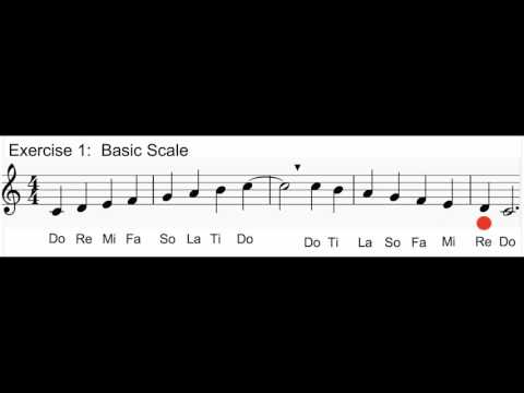 Vocal Exercise 1: Basic Solfege Scale