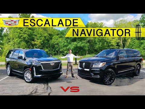AMERICAN KINGS! -- 2021 Cadillac Escalade Vs. Lincoln Navigator: Comparison