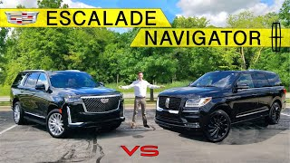AMERICAN KINGS! -- 2021 Cadillac Escalade vs. Lincoln Navigator: Comparison