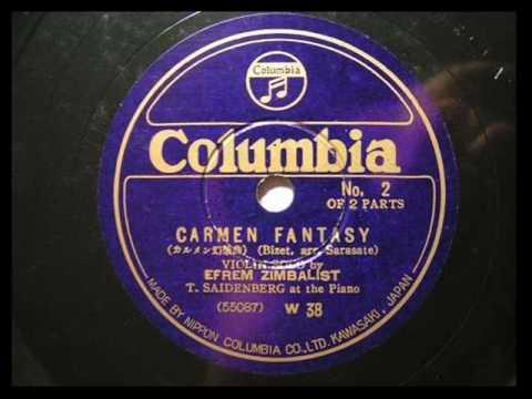 Efrem Zimbalist  Carmen tasie C  1936