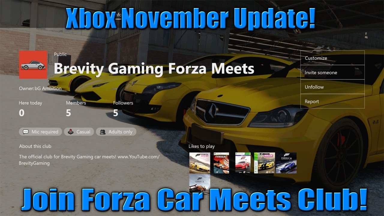 Xbox Clubs Forza Car Meets Club November Update HD YouTube - Car meets today near me