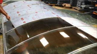 Instalação de Policarbonato Compacto Bronze curvo - CARPORT -  Polysolution
