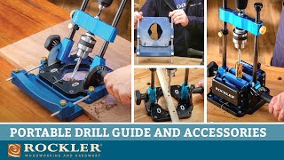 Portable Drill Guide with Vise and New Edge Guide