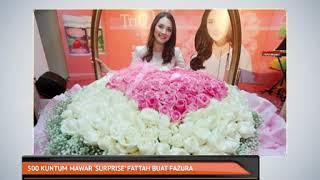 500 kuntum mawar 'surprise' Fattah buat Fazura