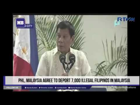 PHL, Malaysia agree to deport 7,000 illegal Filipinos in Malaysia