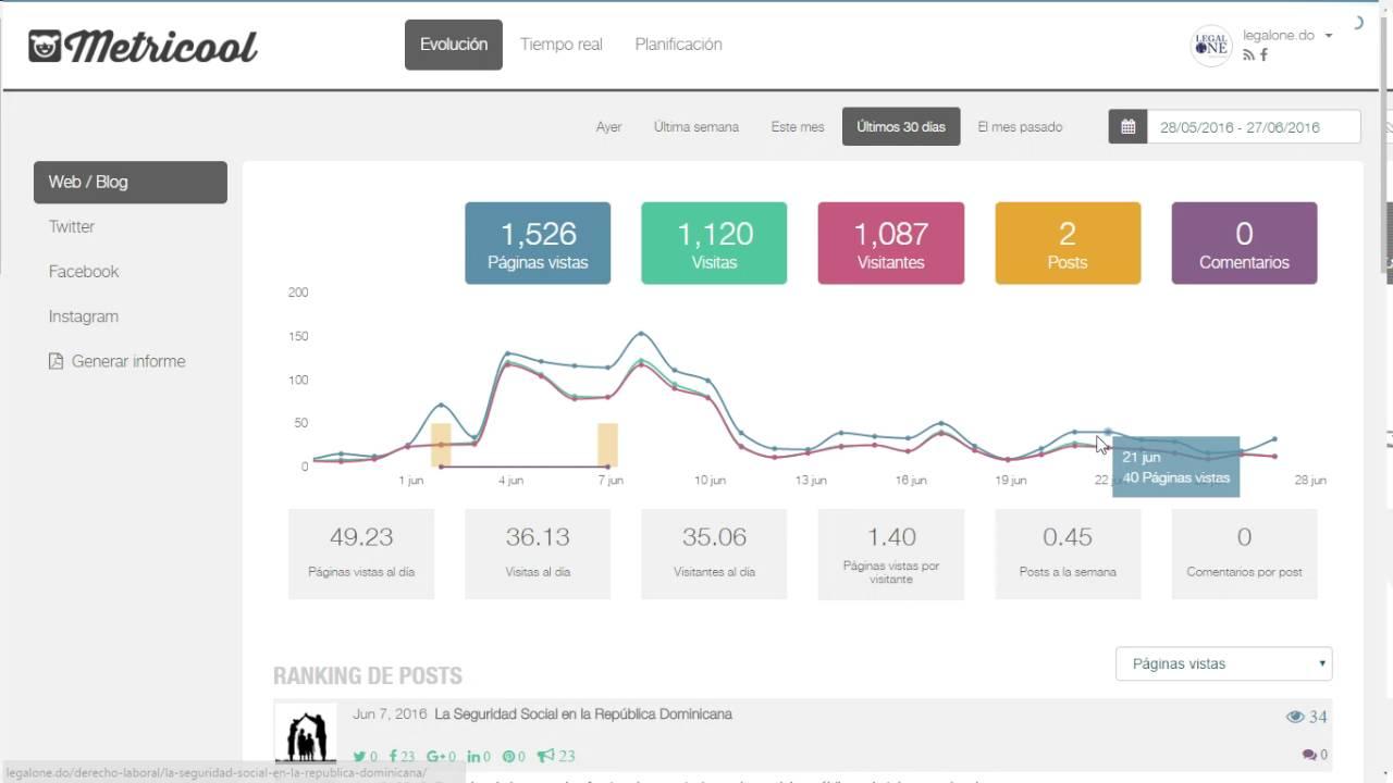 Medición de métricas en redes sociales y blogs con Metricool - YouTube