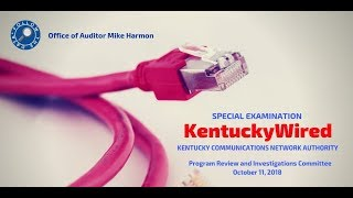 Auditor Harmon testifies about special examination of KentuckyWired