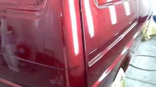 VW Transporter t4 sprayed in  Candy red
