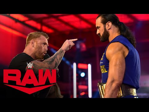 Heath Slater returns to confront Drew McIntyre: Raw, July 6, 2020