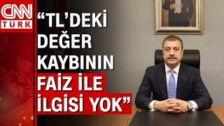 Merkez Bankası Başkanı Şahap Kavcıoğlu'ndan faiz mesajı
