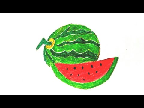 Watermelon Drawing - YouTube