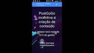 COMO GANHAR DINHEIRO NO #POSTGOGO