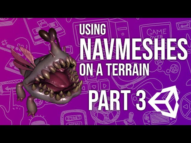 Using Nav Meshes on a Terrain in Unity Part 3