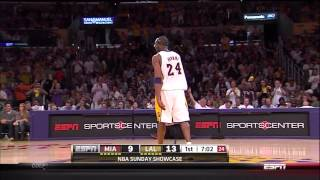 03 04 2012   Heat vs  Lakers   Kobe Bryant Dream Shake On Dwyane Wade