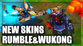 New Skins Lancer Stratus Wukong & Badlands Baron Rumble Skins Spotlight (League of Legends)