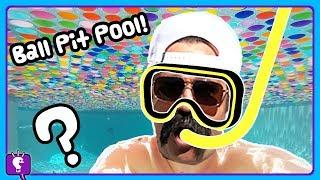 BALL PIT Mystery Swimming Pool! HobbyGrit SMASHES in HobbyScience Lab HobbyKidsTV