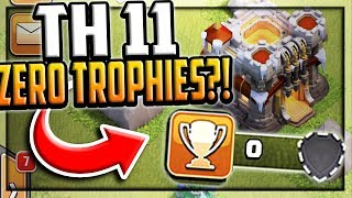 Town Hall 11 - ZERO Trophies?! Clash of Clans Strange but TRUE!