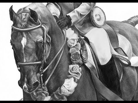 Speed Drawing Horse And Rider Youtube