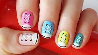 Shoe Nails |  Sneakers Nail Art for Short Nails, Nail Art for Sports