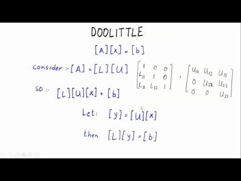 Doolittle Factorization