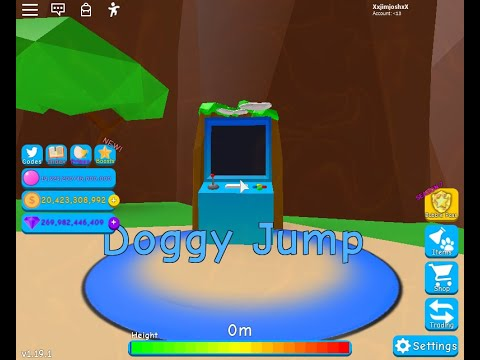 Roblox Bubble Gum Simulator Doggy Trying To Get A Highscore On Doggy Jump Roblox Bubble Gum Simulator Youtube