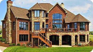 видео Дизайн фасадов загородных домов, коттеджей. Материалы для облицовки фасадов, архитектурные стили проектов домов.