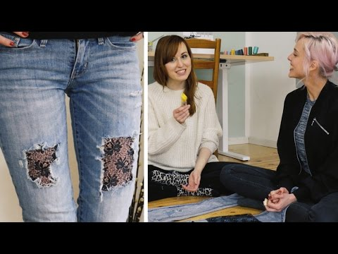QUICK & DIRTY: Jeans Upcycling | DIY | Jelena