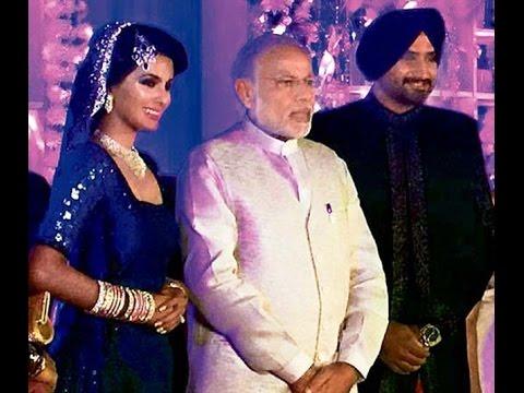 Narendra Modi Attends Harbhajan Singh and Geeta Basra's  Reception