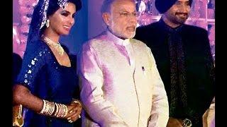 Narendra Modi Attends Harbhajan Singh and Geeta Basra