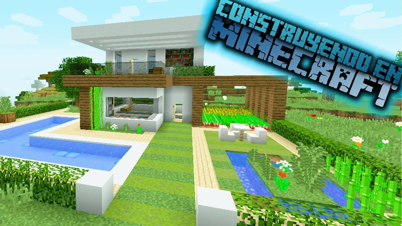Como hacer una casa moderna de hormig n en minecraft for Idee regalo casa moderna