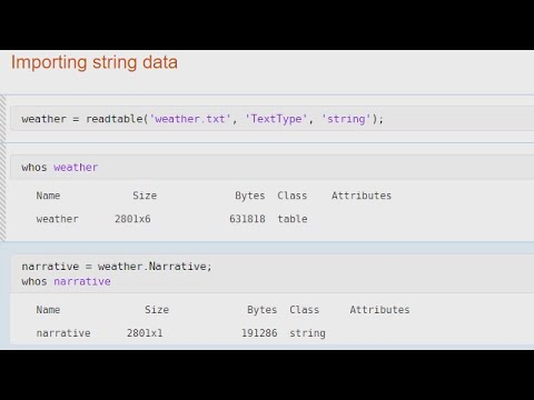 Using String Arrays for Text Data - MATLAB Video