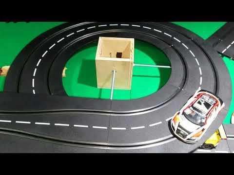 Carrera slot car track spiral helix support