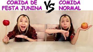 COMIDA DE FESTA JUNINA VS COMIDA NORMAL