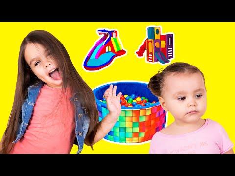 Детский парк - Горки - Бассейн с Шариками - аттракционы / Видео для Детей
