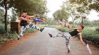 LTT Nerf War : SEAL Team Battle Crime 8