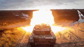 Leopard 2A5 kampvognen affyrer sit sidste skud