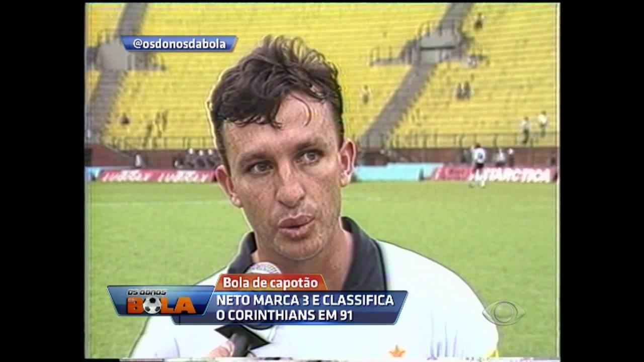 Bola de Capotão: Neto marca 3 e classifica Corinthians em 91