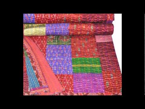 Vintage Indian Kantha Quilts,Throws – Jaipur Handloom