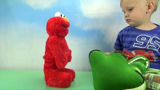 FROZEN'S Elsa and Rex Play! Hobby Baby Reacts to TICKLE ME ELMO by HobbyKidsTV